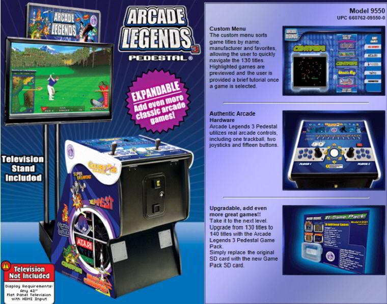 Discontinued Product : Arcade Legends 3 (Older CRT Model
