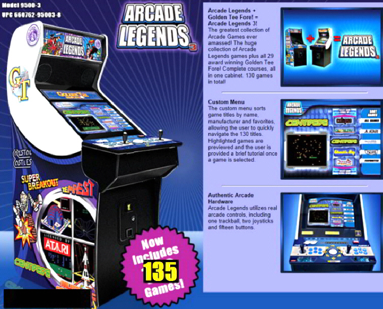 Arcade Legends 3 - Multigame Video Arcade Machine - Upright Model Brochure