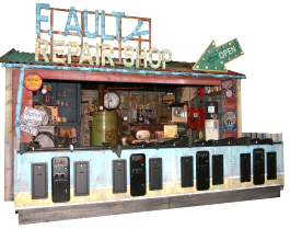 Faulty Repair Shop Carnival Arcade Shooting Gallery From Pan Amusements