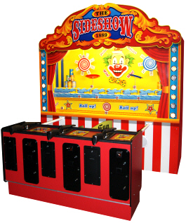 The Sideshow 1889 3 PlayerCarnival Arcade Shooting Gallery From Pan and SEGA Amusements