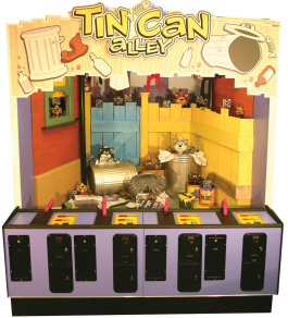Tin Can Alley Classic Midway / Carnival Arcade Shooting Gallery Machine From Pam Amusements