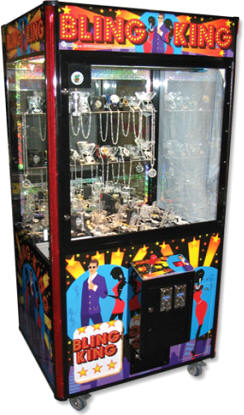 Bling King Jewelry Claw Crane Redemption Machine