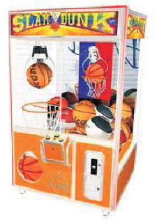 Slam Dunk Basketball Theme Crane Claw Game Machine From Elaut USA