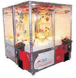 Quattro Crane EX1 4 Player Crane Claw Game Machine From Elaut USA