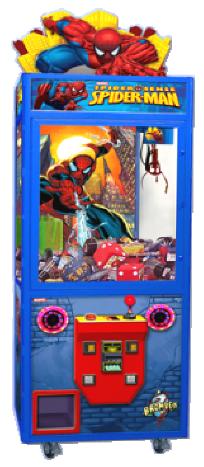Spiderman Spider Sense Superhero Themed Crane Redemption Machine From Bromley Games