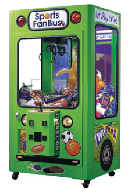 Sports Fan Bus Crane Prize / Claw / Crane Redemption Game From ICE Games
