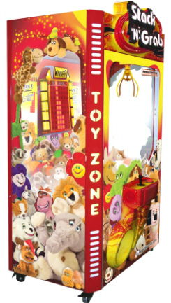 Stack N Grab Prize Merchandiser Crane Redemption Game With Stacker Video Game From LAI