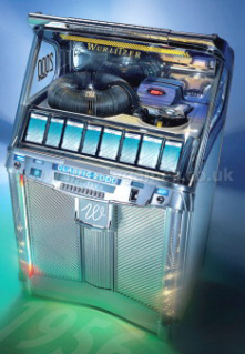 Wurlitzer Classic 2000 Coin Operated CD Jukebox - Top View