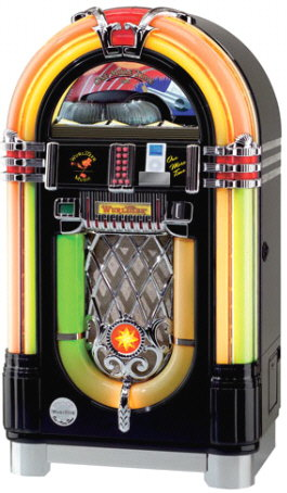 Wurlitzer Model 1015 CD iPod Jukebox OMT - Black Onyx With Bose Acoustimass Speakers From Wurlitzer Jukeboxes