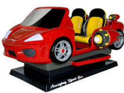 Amazing Sports Car Kiddie Ride - Red