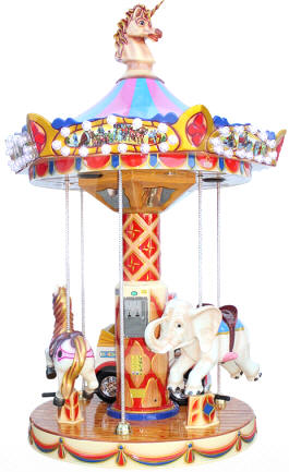 Carousel 1900 Circus Kiddy Ride From Falgas