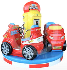 Carousel Grand Prix Car Kiddie Ride From Falgas