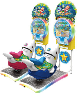 Dolphin Star Arcade Machine Kiddie Ride - Ticket Redemption Video Arcade Game From IGS and Barron Games