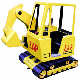 Excavator Backyard Backhoe Kiddie Ride WKR114 From Zamperla Asia Pacific / ZAP Kiddy Ride