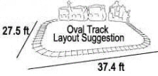 Flagas Mall Train / Kiddie Train Ride Track Layout