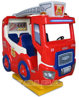 Fire Truck 4S Kiddy Ride - Falgas