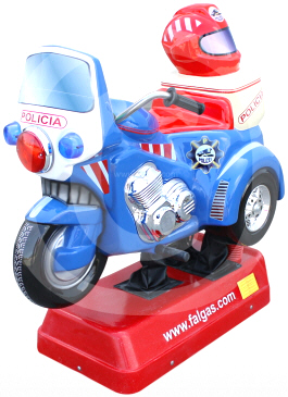 Moto Polizei Motorcycle Kiddie Ride - Falgas
