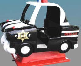 Police Car Kiddie Automobile Ride WKR139 From Zamperla Asia Pacific / ZAP Kiddy Ride