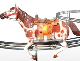 Race Horse On Rails Amusement  Ride - Falgas