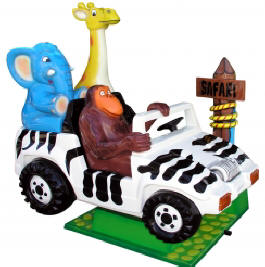 Safari Jeep Zoo Mobile Kiddie Car Ride WKR122  From Zamperla Asia Pacific / ZAP Kiddy Ride