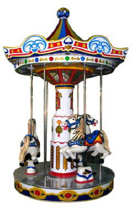 Three Horse Carousel Kiddie Ride From LAI Games