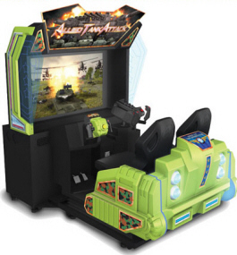 Allied Tank Attack Twin Motion Simulator Game From Injoy Motion / Barron Games
