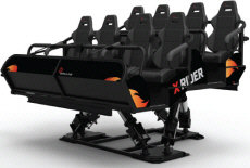 X Rider 3D / 7D Motion Theater Ride - Seating Example By Simuline