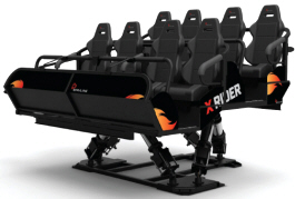 X Rider 4D Motion Theater Ride - Seating | Simuline