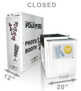Fold N' Go Portable Collapsible Event Rental Photo Booth (Closed)