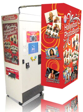 Hollywood Photo Booth Compact |  Portable Compact Wedding / Event Rental Touschcreen Photobooth - With Curtain From Smart Industries
