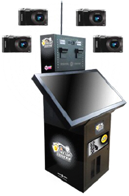 Instant Photo Souvenir Social Event Model Photo Kiosk