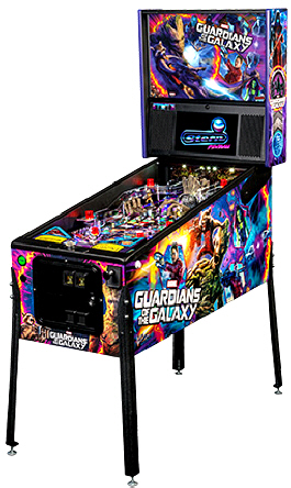 Guardians Of The Galaxy Premium Pinball Machine From Stern