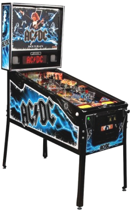 AC/DC Pinball Machine - Back In Black Limited Edition / LE Model From Stern Pinball