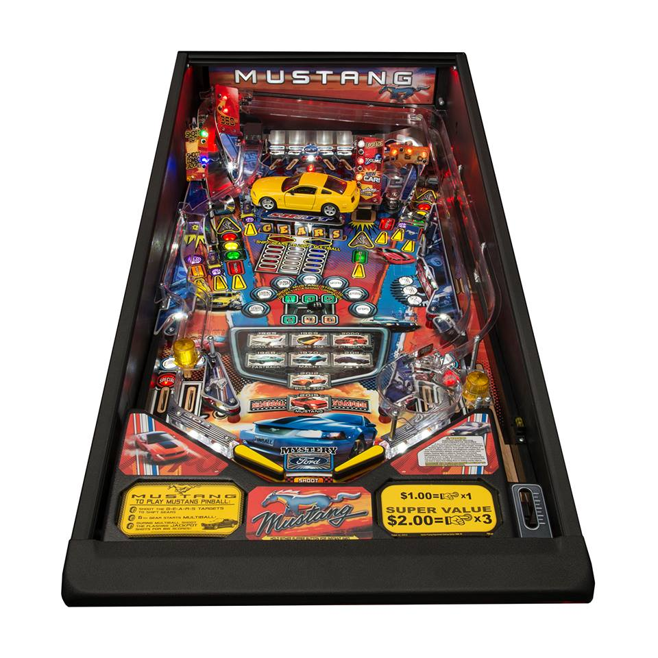 Ford Racing Parts >> Mustang Pinball Machine Pro Playfield