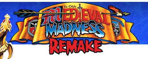 Medieval Madness Remake Pinball Machine Logo - Chicago Gaming
