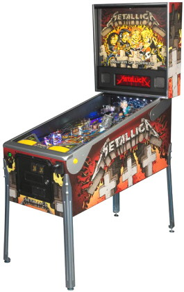 Metallica Masters Of Puppets Model Pinball Machine From Stern Pinball