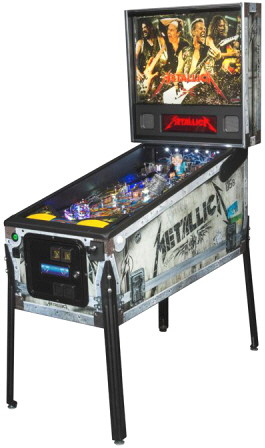 Metallica Road Case  Premium Model Pinball Machine From Stern Pinball
