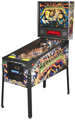 Metallica Pro /  Professional Model Pinball Machine From Stern Pinball