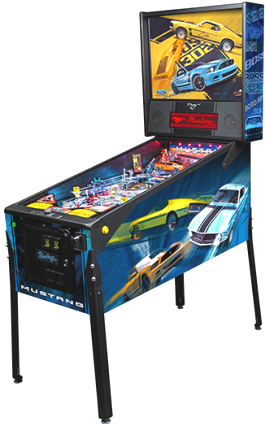 "Mustang Premium ""BOSS"" Model Pinball Machine From Ford / Stern Pinball"