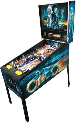TRON Pro / Professional Pinball Machine - Tron Girls Backglass - From Stern