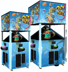 Crazy Tower Arcade and Crazy Tower MEGA Arcade Holographic Video Redemption Games From Andrenaline Amusements