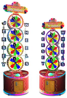 Jersey Wheels Ticket Redemption Wheel Spin Arcade Game From Bobs Space Racers