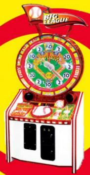 Big League Baseball Wheel Redemption Game - Five 5 Star Redemption