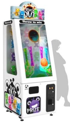 Black Out Prize Merchandiser Touchscreen Video Game Machine From Adrenaline Amusements