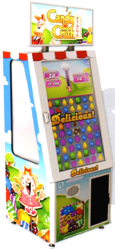 Candy Crush Saga Prize Redemption Touchscreen Video Arcade Game