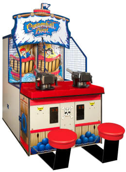Cannonball Blast Air Ball Carnival Game