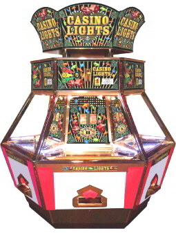 Casino Lights 6 Player Con Pusher Game From Coastal Amusements
