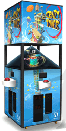 Crazy Tower Arcade - Holographic Videmption Game From Adrenaline Amusements