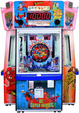 DC Superheroes Card and Token Redemption Arcade Game From Bandai Namco Games