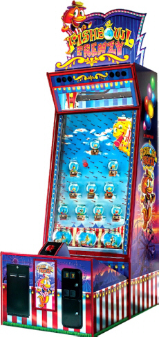 Fishbowl Frenzy Arcade Ticket Redemption Video Game From Team Play, Inc
